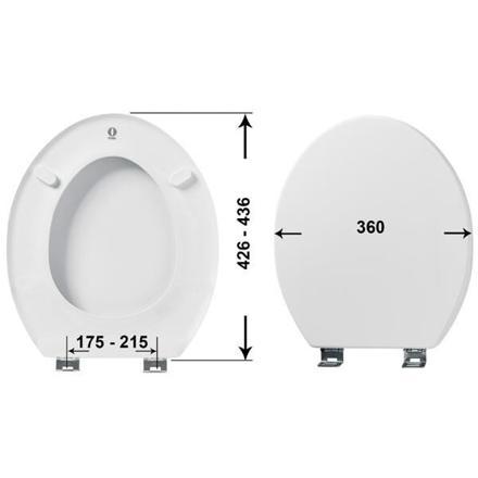 abattant wc largeur 35 cm