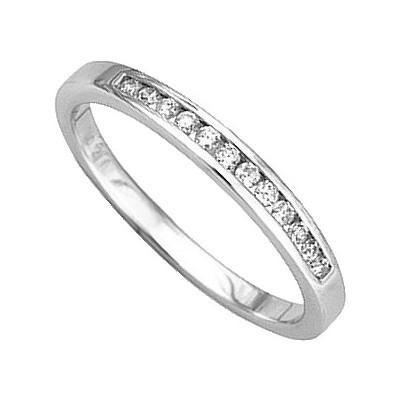 alliance femme or blanc et diamant
