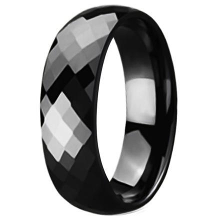 anneau ceramique noir