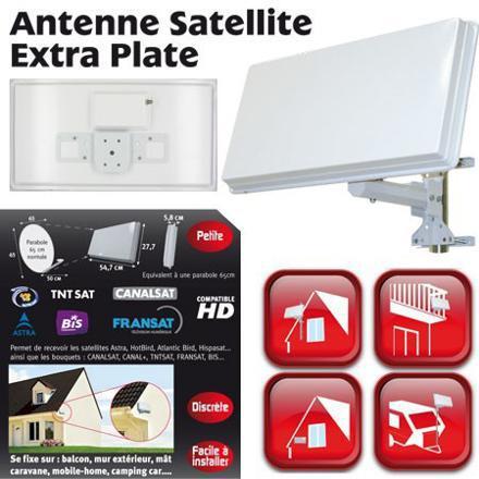 antenne satellite plate ou parabole
