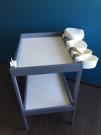 bac rangement table à langer