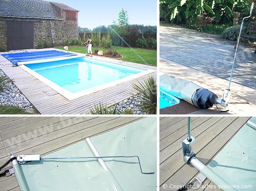 bache a barre piscine