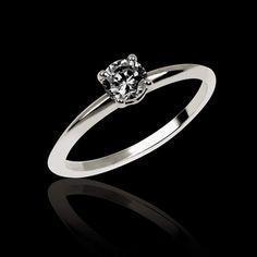 bague de fiancaille diamant noir