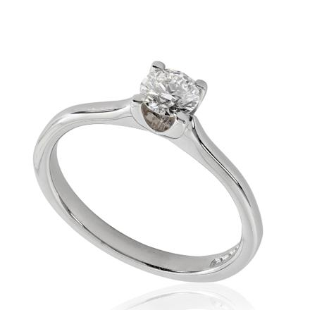bague de fiancaille solitaire diamant or blanc