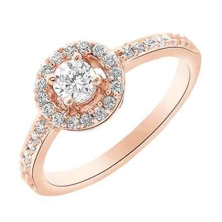 bague or rose diamant