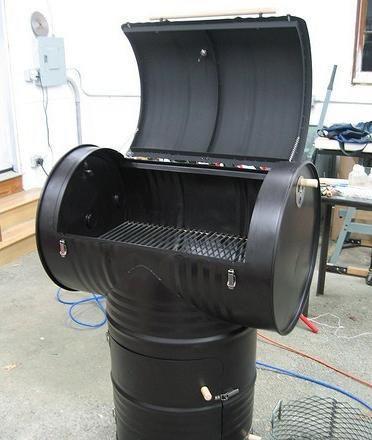 barbecue avec fut 200l