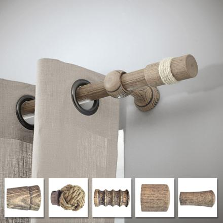 barre a rideaux bois