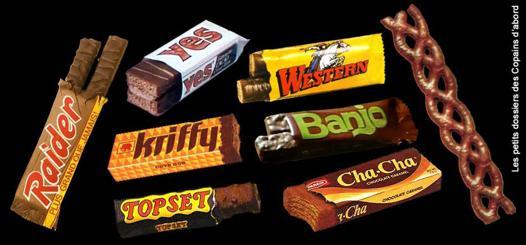 barre chocolatée année 80
