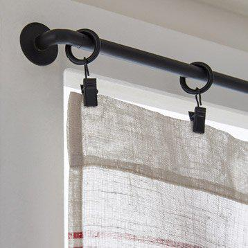 barre de rideau noir