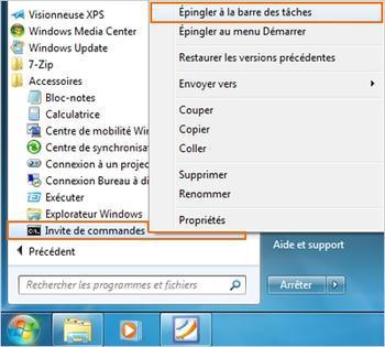 barre de tache windows 7