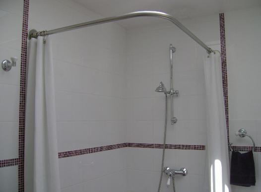 barre pour rideau baignoire