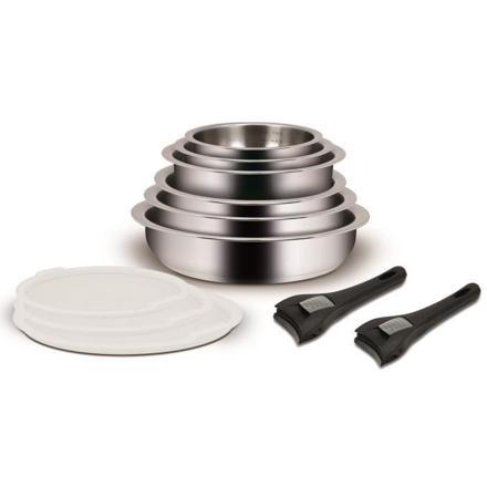 batterie de cuisine inox poignée amovible