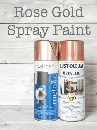 bombe peinture or rose