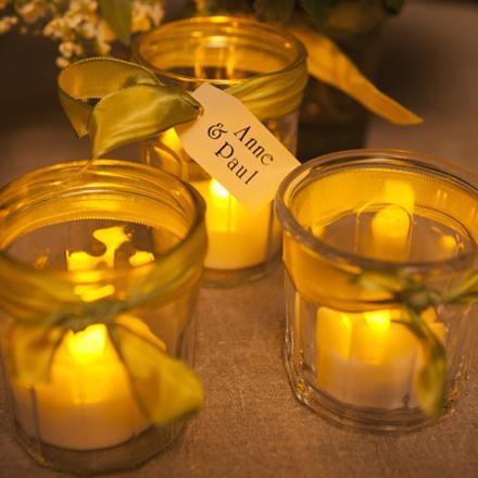 bougies led mariage