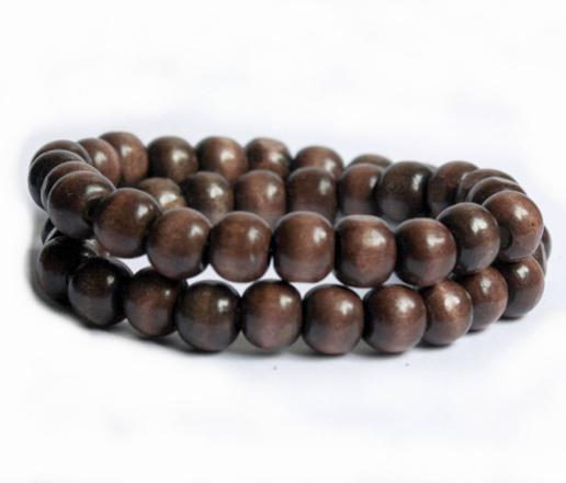 bracelet boule bois homme
