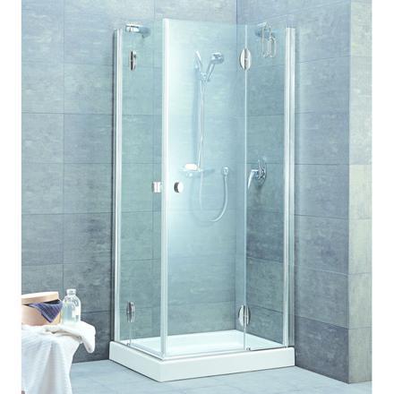 cabine douche 3 faces vitrées