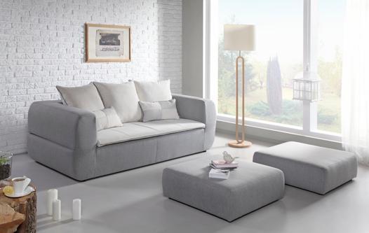 canapé avec pouf amovible