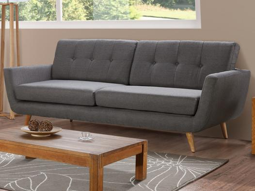 canapé gris tissu