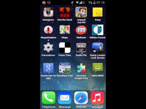 capture d'écran téléphone