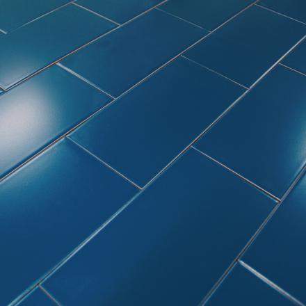 carrelage bleu