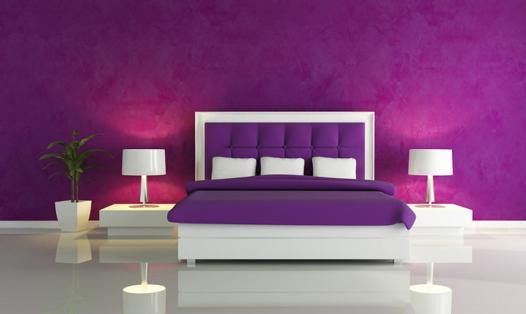 chambre blanc et violet