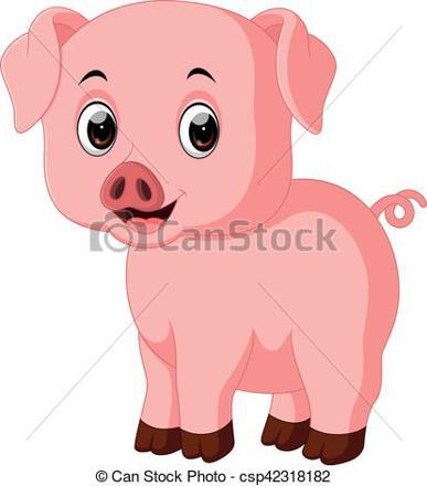 cochon mignon dessin