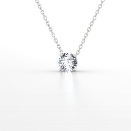 collier argent diamant
