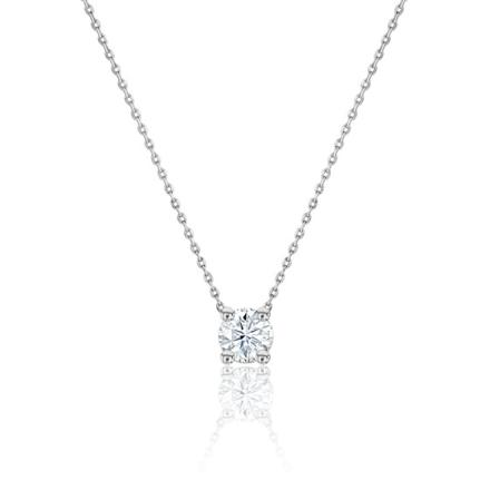 collier diamant solitaire