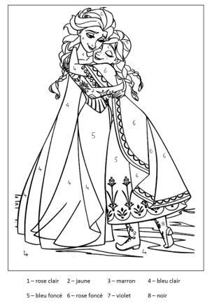 coloriage magique de la reine des neiges