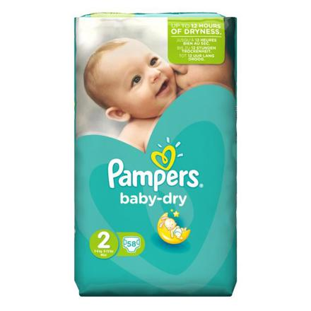 couche pampers baby dry taille 2