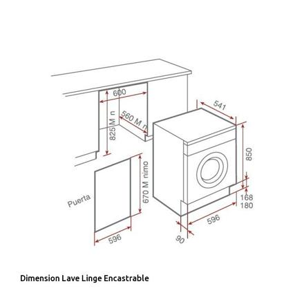 dimension lave linge