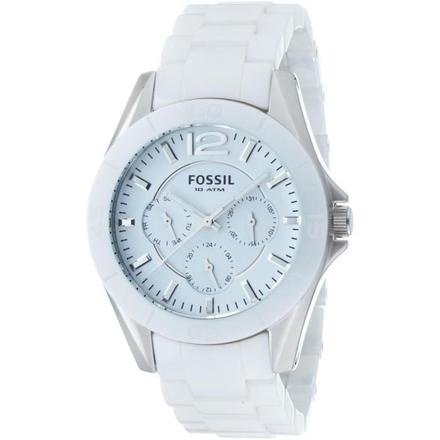 montre fossil femme blanche