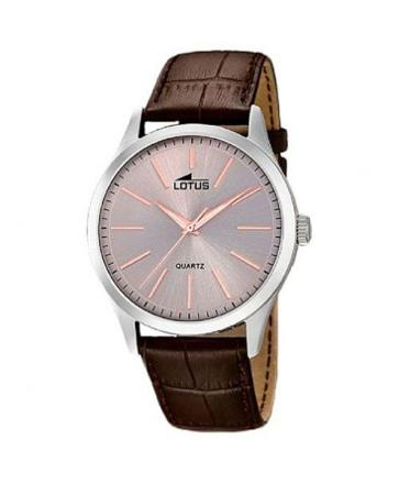 montre lotus cuir