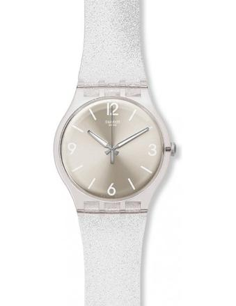 montre swatch bracelet transparent
