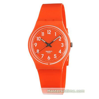 montre swatch orange