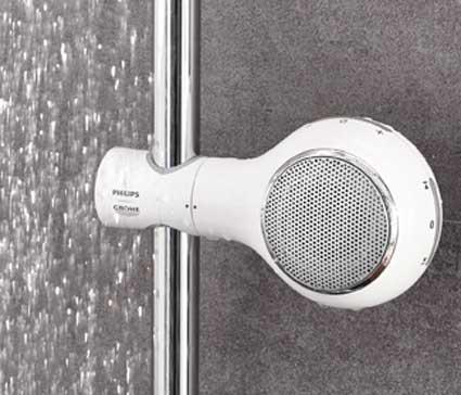 pommeau de douche radio