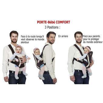porte bébé dorsal et ventral