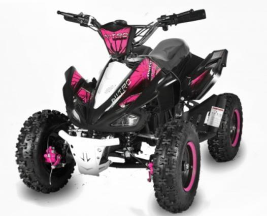 quad electrique rose