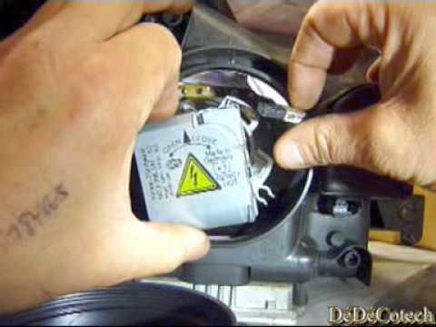 remplacement ampoule xenon