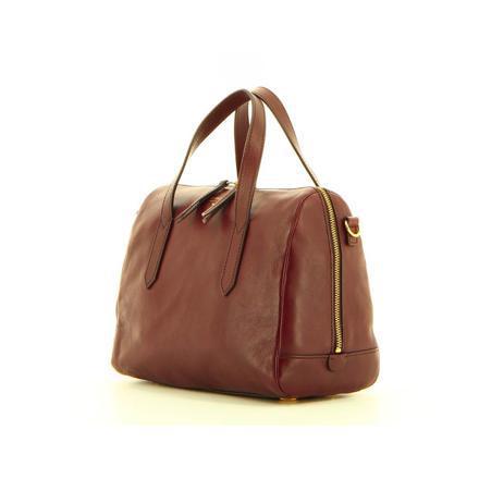 sac fossil marron