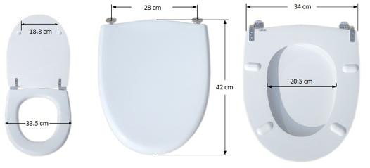 abattant wc petite dimension