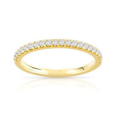 alliance en diamant or jaune