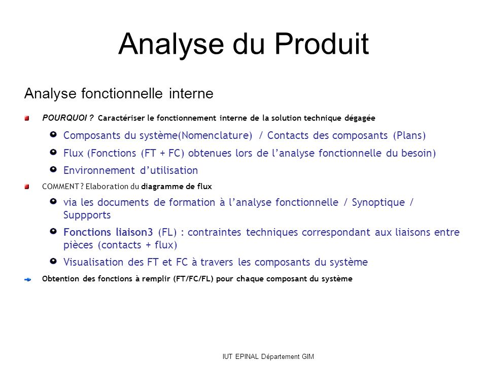 analyse produit
