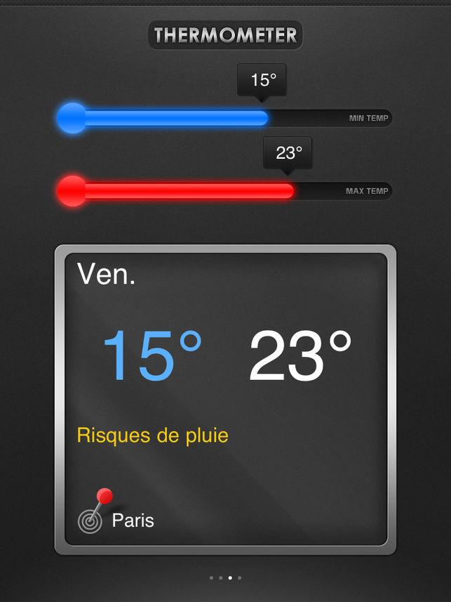 application thermomètre intérieur gratuit