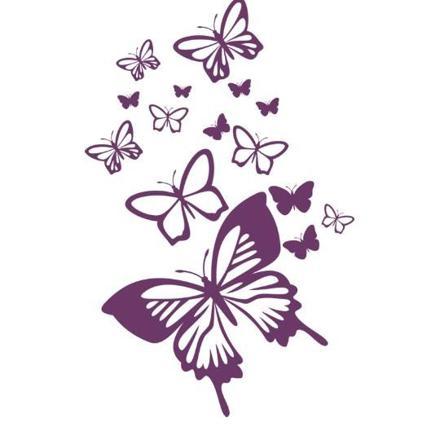 arabesque papillon violet