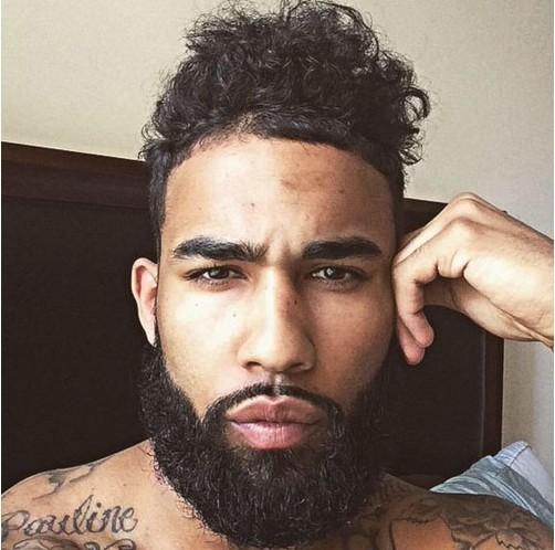 barbe homme noir