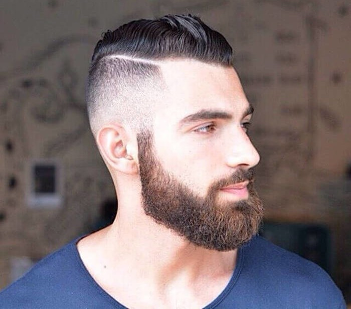 barbe longue cheveux courts
