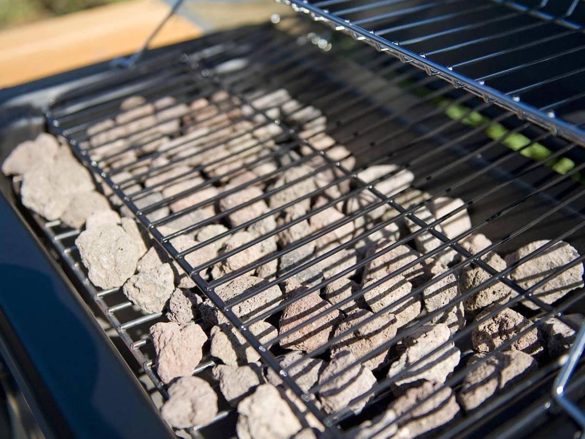 barbecue a pierre de lave gaz