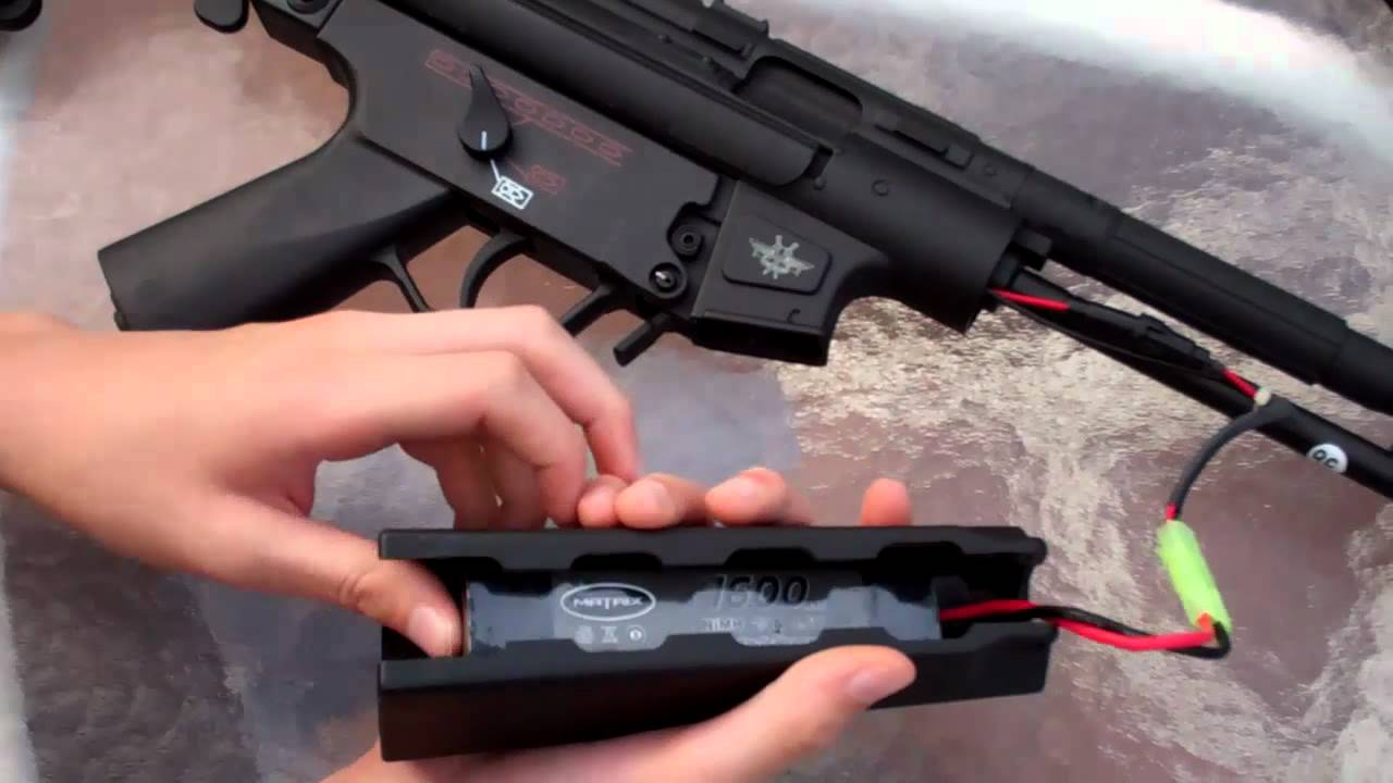 batterie airsoft mp5