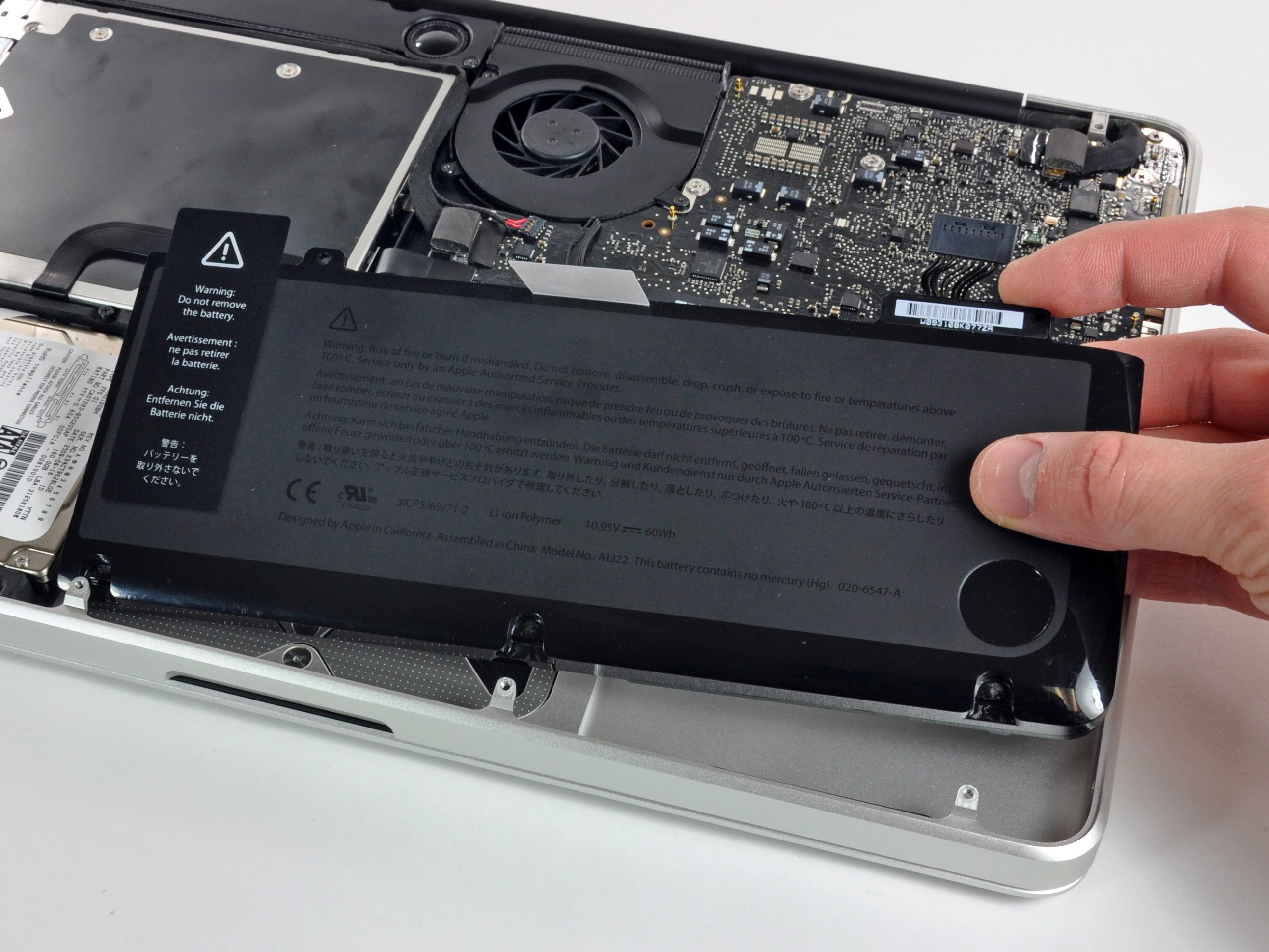 batterie macbook pro a1286